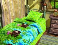 купить Комплект постельного белья полуторный Маша и Медведь На рыбалке цена, отзывы