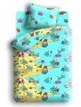 купить Комплект постельного белья полуторный Смурфики Пляж цена, отзывы
