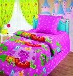купить Комплект постельного белья полуторный Лунтик и бабочки цена, отзывы
