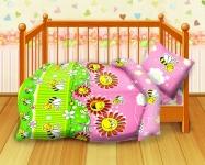 купить Комплект постельного белья детский Кошки-мышки Пчелки цена, отзывы