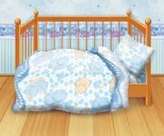 купить Комплект постельного белья детский Кошки-мышки Спокойной ночи цена, отзывы
