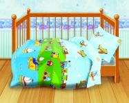 купить Комплект постельного белья детский Кошки-мышки Веселая поездка цена, отзывы