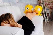 купить Домашние тапочки Гомер Симпсон цена, отзывы