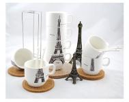 купить Набор чашек Париж 26 см цена, отзывы
