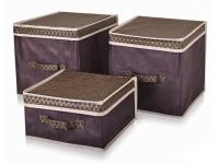 купить Короб для хранения вещей коричневый 30х40х16 цена, отзывы
