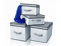 купить Короб для хранения вещей черно-белый 30х30х16 цена, отзывы