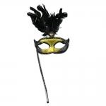 купить Венецианская маска Незнакомка на ручке цена, отзывы