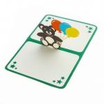 купить Объемная открытка Подарок Мишка с шариками  цена, отзывы