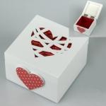 купить Деревянная шкатулка Сердце цена, отзывы