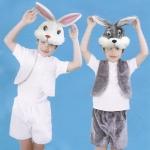 купить Детский костюм меховой Заяц серый цена, отзывы