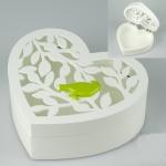 купить Шкатулка Сердце с птицей цена, отзывы