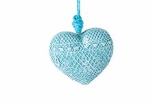купить Декоративное украшение Сердце голубое цена, отзывы
