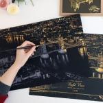 купить Скретч картина Лондон ночью цена, отзывы