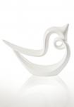 купить Статуэтка глянцевая Гордая птица белая цена, отзывы