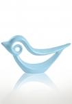 купить Статуэтка глянцевая Птичка голубая цена, отзывы