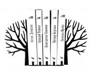 купить Держатель для книг Зимнее дерево черное цена, отзывы