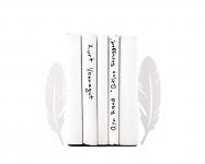 купить Держатель для книг Перья белые цена, отзывы