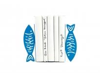 купить Держатель для книг Рыбы синие цена, отзывы