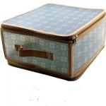 купить Короб складной на молнии 30х28х15 см серый цена, отзывы