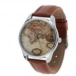купить Наручные часы Карта коричневый цена, отзывы