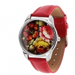 купить Наручные часы Пионы красный цена, отзывы