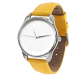 купить Часы наручные Минимализм желтый цена, отзывы