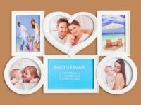 купить Фоторамка Семейная на 6 фото Белая Сердечко цена, отзывы