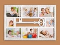 купить Фоторамка Семейная на 8 фото белая Ключик цена, отзывы