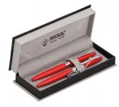 купить Набор ручек в бархатном футляре Амелия красный цена, отзывы