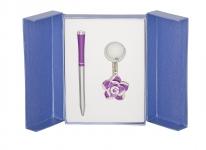 купить Подарочный набор ручка и брелок Сапфо фиолетовый цена, отзывы