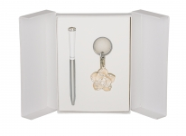 купить Подарочный набор ручка и брелок Сапфо белый цена, отзывы