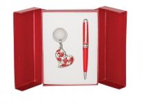 купить Подарочный набор ручка и брелок Роксан красный цена, отзывы