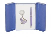 купить Подарочный набор ручка и брелок Роксан фиолетовый цена, отзывы