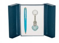 купить Подарочный набор ручка и брелок Дамали синий цена, отзывы