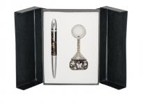 купить Подарочный набор ручка и брелок Калипсо черный цена, отзывы