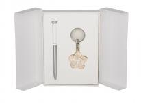 купить Подарочный набор ручка и брелок Мелита белый цена, отзывы