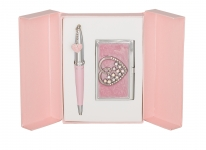 купить Подарочный набор ручка и визитница Минта розовый цена, отзывы