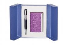 купить Подарочный набор ручка и визитница Геспер фиолетовый цена, отзывы