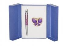 купить Подарочный набор ручка и держатель для сумки Лета фиолетовый цена, отзывы