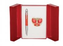 купить Подарочный набор ручка и держатель для сумки Лета красный цена, отзывы