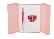 купить Подарочный набор ручка и держатель для сумки Лета розовый цена, отзывы