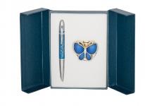 купить Подарочный набор ручка и держатель для сумки Лета синий цена, отзывы