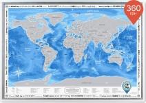 купить Скретч карта Discovery Maps World на английском языке цена, отзывы