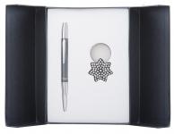 купить Подарочный набор ручка и брелок Барбара черный цена, отзывы