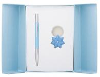 купить Подарочный набор ручка и брелок Барбара синий цена, отзывы