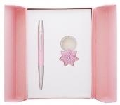 купить Подарочный набор ручка и брелок Барбара розовый цена, отзывы