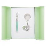 купить Подарочный набор ручка и брелок Амина зеленый цена, отзывы
