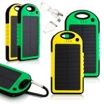 купить Мобильная зарядка Power Bank на солнечной батарее 5000Mah цена, отзывы