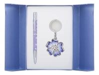 купить Подарочный набор ручка и брелок Алексия фиолетовый цена, отзывы