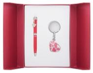 купить Подарочный набор ручка и брелок Тая красный цена, отзывы